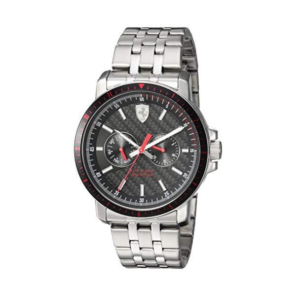 フェラーリ 腕時計 Ferrari 830453 ウォッチ メンズ 男性用 Ferrari Men's Turbo Quartz Watch with Stainless-Steel Strap, Silver, 22 (Model: 830453)