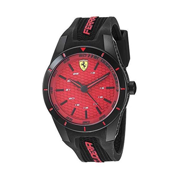 フェラーリ 腕時計 Ferrari 870029 ウォッチ メンズ 男性用 ギフトセット プレゼント 贈り物 Ferrari Men's Red Rev Gift Set Stainless Steel Quartz Watch with Silicone Strap, Black, 20.1 (Model: 0870029)