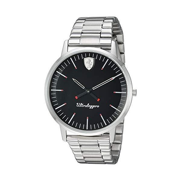フェラーリ 腕時計 Ferrari 830560 ウォッチ メンズ 男性用 Ferrari Men's Ultraleggero Quartz Watch with Stainless-Steel Strap, Silver, 20 (Model: 0830560)