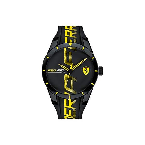 フェラーリ 腕時計 Ferrari 830615 ウォッチ メンズ 男性用 Ferrari Men's RedRev Quartz Plastic and Silicone Strap Casual Watch, Color: Black (Model: 830615)