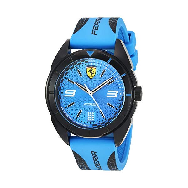 フェラーリ 腕時計 Ferrari 830518 ウォッチ メンズ 男性用 Ferrari Men's Forza Quartz Plastic and Silicone Strap Casual Watch, Color: Blue (Model: 830518)