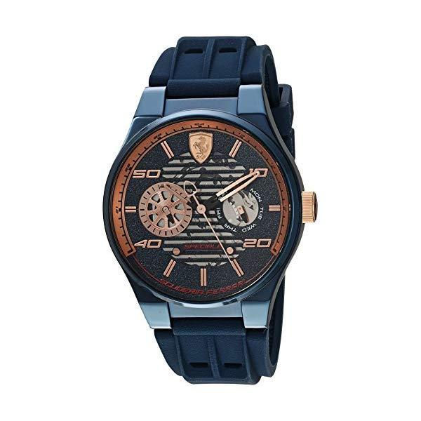 フェラーリ 腕時計 Ferrari 830459 ウォッチ メンズ 男性用 Ferrari Men's Speciale Multi Stainless Steel Quartz Watch with Silicone Strap, Blue, 15 (Model: 0830459)
