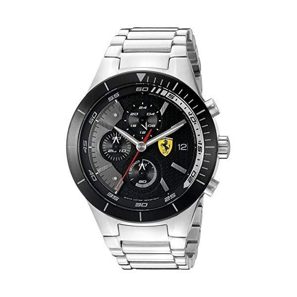 フェラーリ 腕時計 Ferrari 830263 ウォッチ メンズ 男性用 Ferrari Men's 0830263 REDREV EVO Stainless Steel Bracelet Watch with Black Dial
