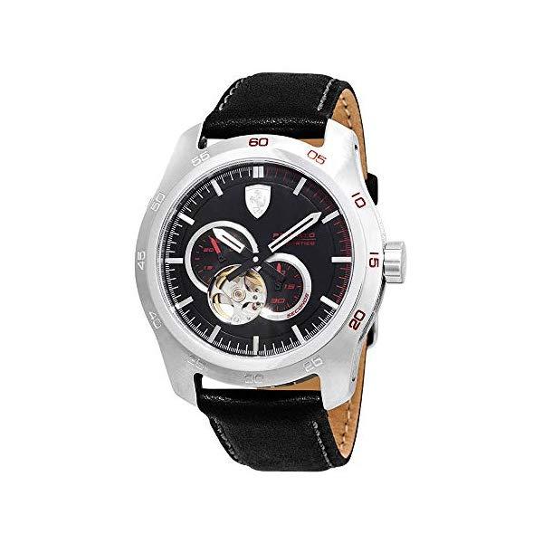 フェラーリ 腕時計 Ferrari 830442 ウォッチ メンズ 男性用 Ferrari Primato Automatic Black Dial Men's Watch 830442