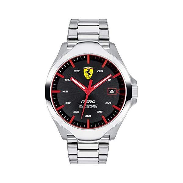フェラーリ 腕時計 Ferrari 830507 ウォッチ メンズ 男性用 Ferrari Men's 0830507 Aero Analog Display Quartz Silver Watch