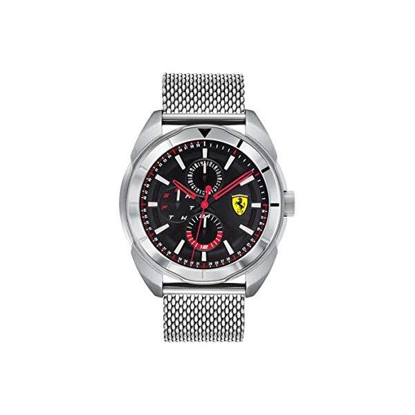 フェラーリ 腕時計 Ferrari 830637 ウォッチ メンズ 男性用 Ferrari Men's Forza Quartz Stainless Steel and Bracelet Casual Watch, Color: Silver (Model: 830637)