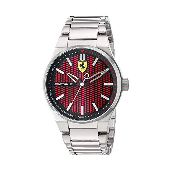 フェラーリ 腕時計 Ferrari 830357 ウォッチ スクーデリア メンズ 男性用 Scuderia Ferrari Men's Quartz Watch with Stainless-Steel Strap, Silver, 0.63 (Model: 830357)