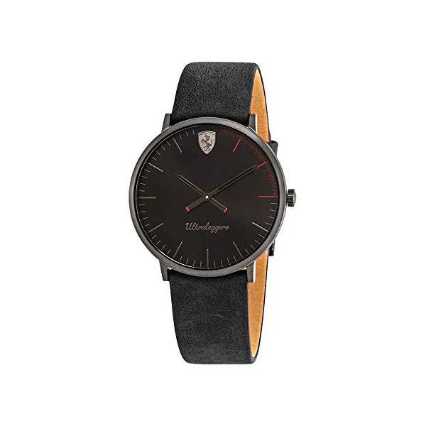 フェラーリ 腕時計 Ferrari 830404 ウォッチ メンズ 男性用 Ferrari Ultraleggero Black Dial Black Leather Men's Watch 830404