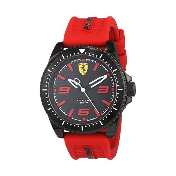 フェラーリ 腕時計 Ferrari 830498 ウォッチ スクーデリア Scuderia Ferrari XX KERS Black Dial Red Rubber Strap 0830498