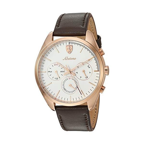 フェラーリ 腕時計 Ferrari 830504 ウォッチ メンズ 男性用 Ferrari Men's 0830504 Abetone Analog Display Quartz Brown Watch