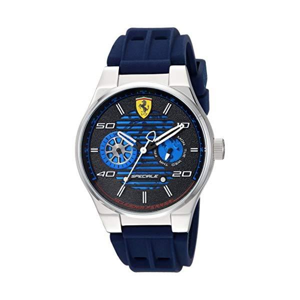 """フェラーリ 腕時計 Ferrari 830430 ウォッチ メンズ 男性用 Ferrari Men""""s Speciale Stainless Steel Quartz Watch with Rubber Strap, Blue, 25 (Model: 830430)"""
