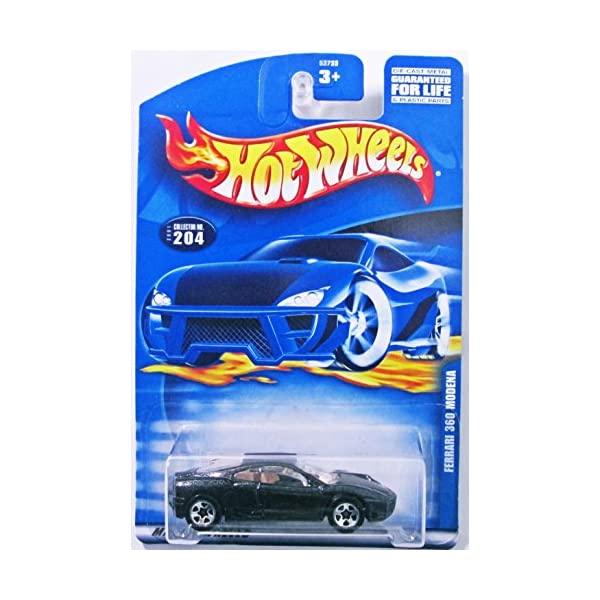 フェラーリ ランキングTOP10 モデルカー ダイキャスト 模型 ミニカー 休み グッズ 納車祝い プレゼント インテリア MODENA BLACK スーパーカー WHEELS FERRARI HOT #204 360