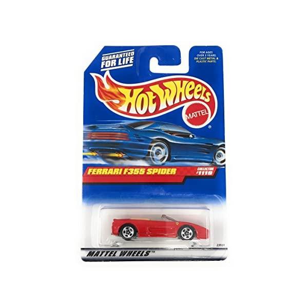 フェラーリ ホットウィール 高品質新品 モデルカー ダイキャスト 模型 ミニカー グッズ 納車祝い プレゼント インテリア スーパーカー Mattel Hot Spider Wheels Collector 1999 特価 #1119 Ferrari F355 1:64 Die Red Scale Cast Car