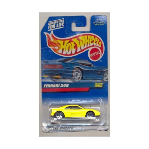 フェラーリ ホットウィール モデルカー ダイキャスト 模型 ミニカー グッズ 納車祝い プレゼント インテリア Ferrari Wheels Hot 商店 1999-993 お得クーポン発行中 スーパーカー 348 YELLOW Scale 1:64