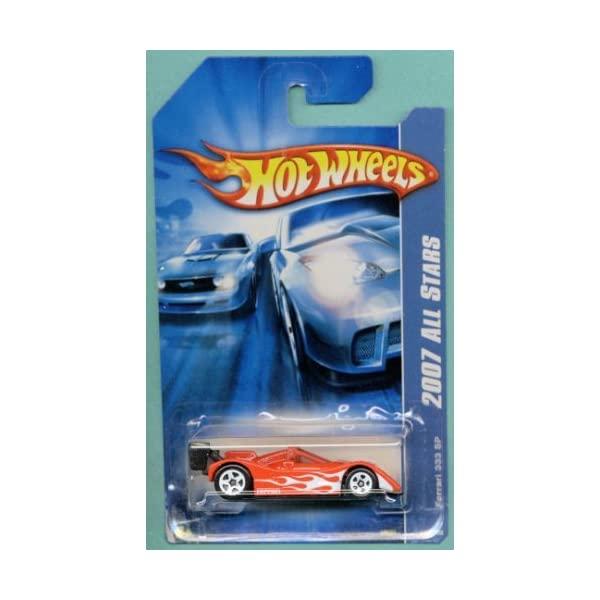 フェラーリ ホットウィール モデルカー ダイキャスト 模型 ミニカー グッズ 納車祝い プレゼント インテリア スーパーカー Hot Wheels 2007 All 333 Die Silver With Car 1:64 #0139 Ferrari Scale Flames SP Red Stars お見舞い 高級 Cast