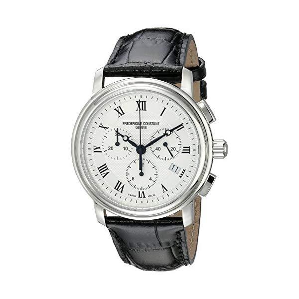 フレデリックコンスタント 腕時計 Frederique Constant FC292MC4P6 ウォッチ メンズ 男性用 Frederique Constant Men's FC292MC4P6 Persuasion Stainless Steel Chronograph Watch With Black Leather Strap