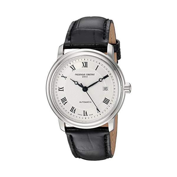 フレデリックコンスタント 腕時計 Frederique Constant FC-303MC4P6 ウォッチ メンズ 男性用 Frederique Constant Men's Classics Stainless Steel Automatic-self-Wind Watch with Leather Calfskin Strap, Black, 22 (Model: FC-303MC4P6)