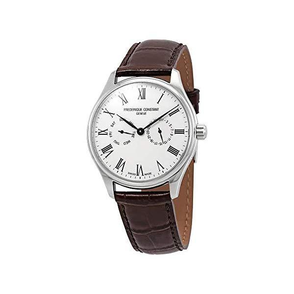 フレデリックコンスタント 腕時計 Frederique Constant FC-259WR5B6-DBR ウォッチ メンズ 男性用 Frederique Constant Silver Dial Leather Strap Men's Watch FC-259WR5B6-DBR