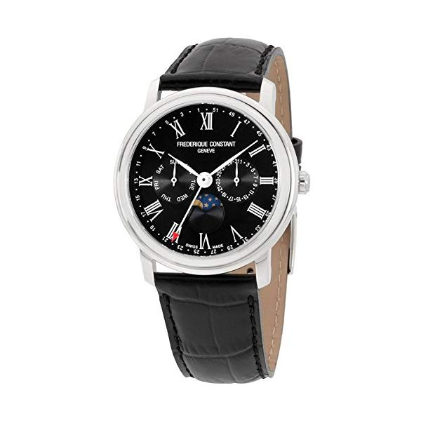 フレデリックコンスタント 腕時計 Frederique Constant FC-270BR4P6 ウォッチ メンズ 男性用 Frederique Constant Classics Black Dial Leather Strap Men's Watch FC-270BR4P6