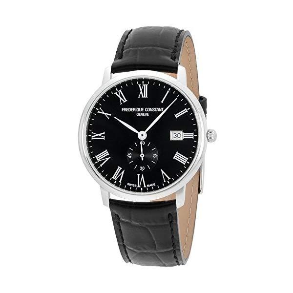 フレデリックコンスタント 腕時計 Frederique Constant FC-245BR5S6 ウォッチ メンズ 男性用 Frederique Constant Slimline Black Dial Leather Strap Men's Watch FC-245BR5S6