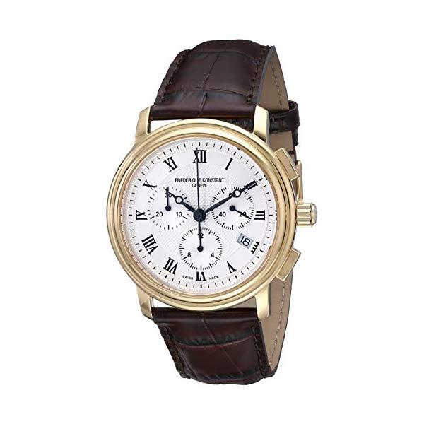 フレデリックコンスタント 腕時計 Frederique Constant FC292MC4P5 ウォッチ メンズ 男性用 Frederique Constant Men's FC292MC4P5 Persuasion Brown Strap Chronograph Watch