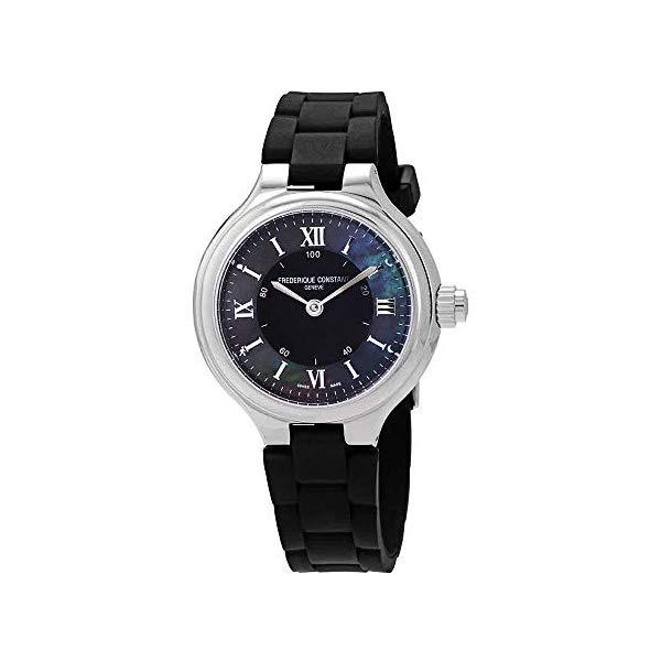 フレデリックコンスタント 腕時計 Frederique Constant FC-281GH3ER6 ウォッチ レディース 女性用 Frederique Constant HSW Black Dial Silicone Strap Ladies Watch FC281GH3ER6