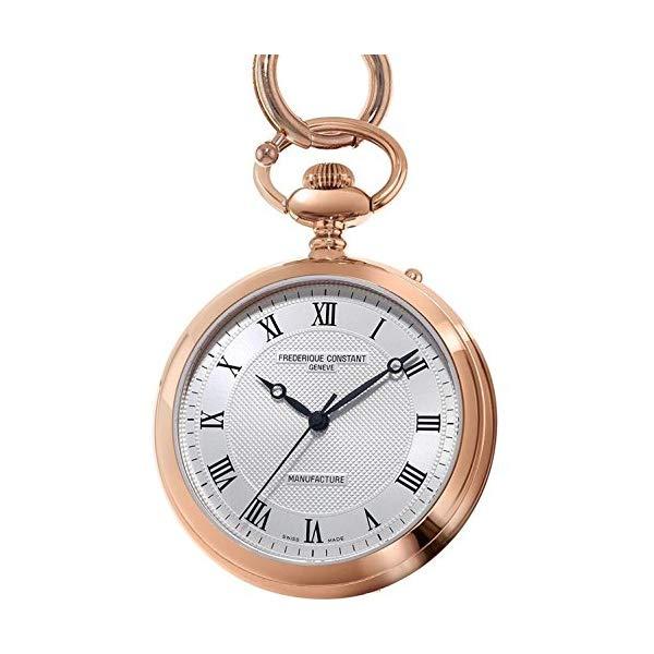 フレデリックコンスタント 腕時計 Frederique Constant FC-700MC6PW4 ウォッチ メンズ 男性用 Frederique Constant Silver Dial Stainless Steel Men's Pocket Watch FC700MC6PW4