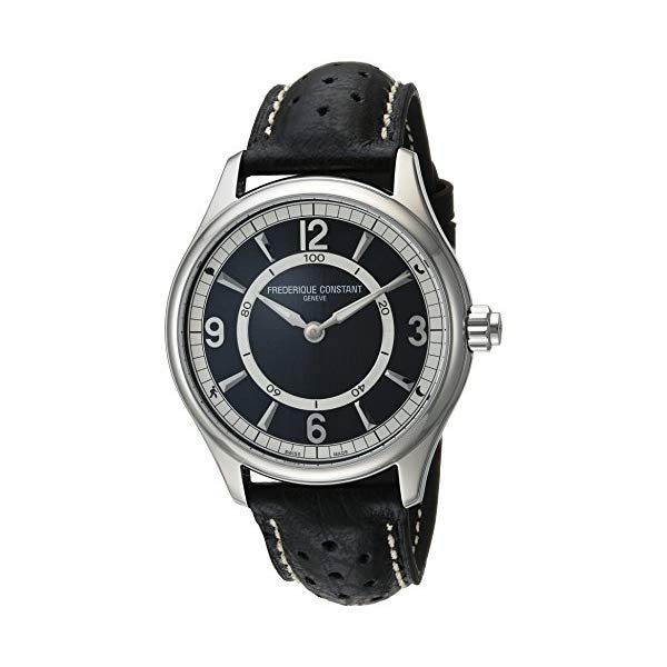 フレデリックコンスタント 腕時計 Frederique Constant FC-282AB5B6 ウォッチ メンズ 男性用 Frederique Constant Men's Horological Smart Watch Stainless Steel Swiss-Quartz Leather Calfskin Strap, Black, 21 (Model: FC-282AB5B6)