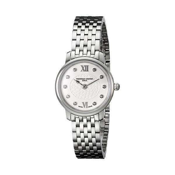 フレデリックコンスタント 腕時計 Frederique Constant FC200WHDS6B ウォッチ レディース 女性用 Frederique Constant Women's FC200WHDS6B Slim Line Analog Display Swiss Quartz Silver Watch