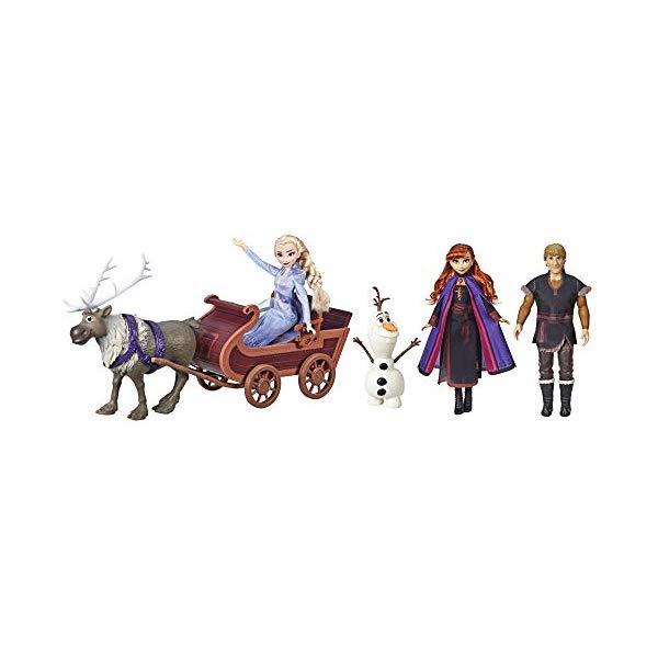 アナと雪の女王2 エルサ アナ クリストフ オラフ スヴェン おもちゃ 人形 ドール フィギュア ディズニー Disney Frozen Sledding Adventures Doll Pack Includes Elsa, Anna Kristoff Olaf and Sven Fashion Dolls with Sled Toy Inspired by the Disney Frozen Movie