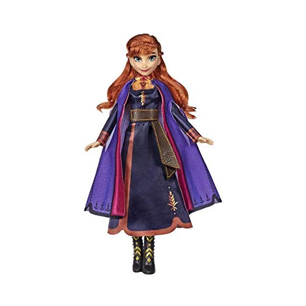 アナと雪の女王2 アナ おもちゃ 人形 ドール フィギュア ディズニー Disney Frozen Singing Anna Fashion Doll with Music Wearing Purple Dress Inspired by 2, Toy for Kids Years Up