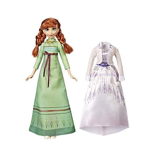 アナと雪の女王2 アナ 着せ替え アレンデール おもちゃ 人形 ドール フィギュア ディズニー Disney Frozen Arendelle Fashions Anna Fashion Doll with Outfits, Green Nightgown White Dress Inspired by the Frozen Movie Toy For Kids Years Old Up