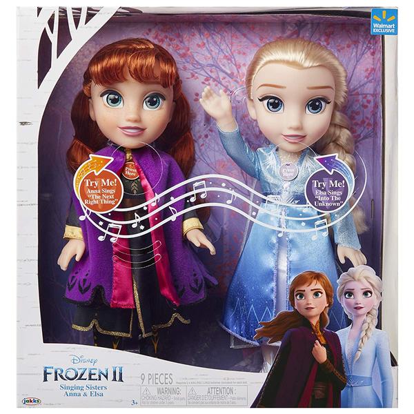 アナと雪の女王2 エルサ アナ 歌う おもちゃ 人形 ドール フィギュア ディズニー Disney Frozen Princess Anna and Elsa Singing Sisters Interactive Feature Dolls Set Includes Both Dolls Approximately 14 Inches Tall