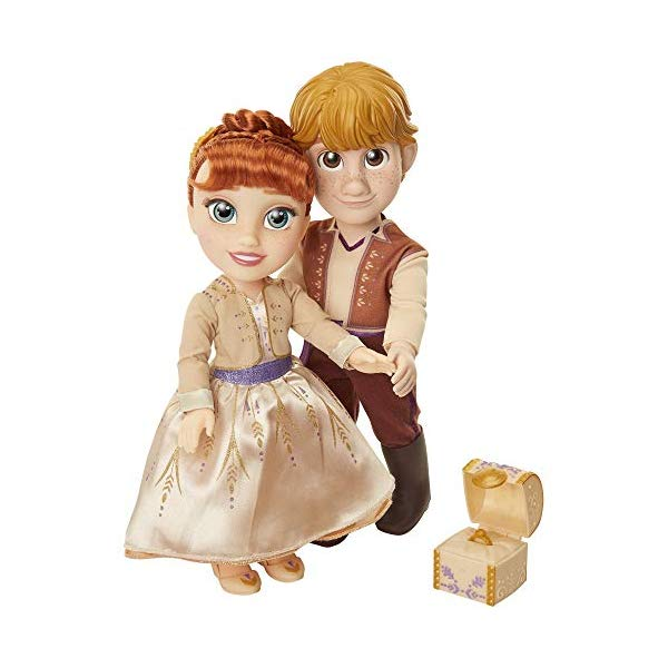 アナと雪の女王2 アナ クリストフ おもちゃ 人形 ドール フィギュア ディズニー Disney Frozen Anna Kristoff Dolls Proposal Gift Set, Comes with Ring Ring Box! Features Authentic Film Details Design For Ages 3+
