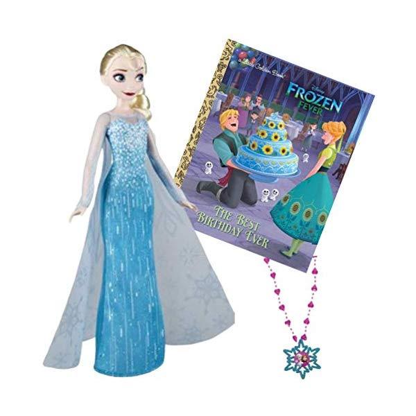 アナと雪の女王2 エルサ 本 ネックレス付き おもちゃ 人形 ドール フィギュア ディズニー Kelsteve Frozen Elsa Doll with Frozen The Best Birthday Ever Book and Bonus Anna and Elsa Sparkling Snowflake Necklace