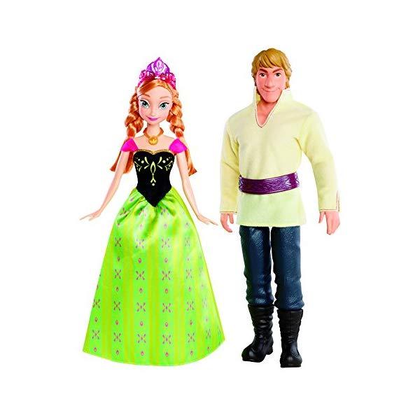 アナと雪の女王2 アナ クリストフ おもちゃ 人形 ドール フィギュア ディズニー Disney Frozen Anna and Kristoff Doll, 2-Pack