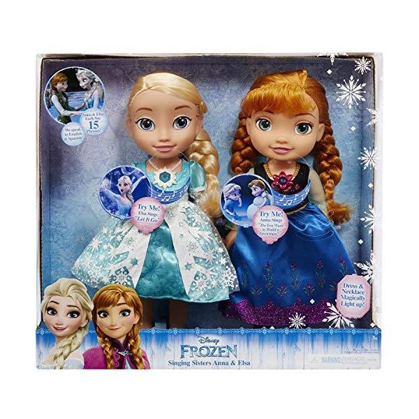 アナと雪の女王2 エルサ アナ おもちゃ 人形 ドール フィギュア ディズニー Disney Frozen Singing Sisters, Light Up Elsa and Anna Dolls, Multicolor