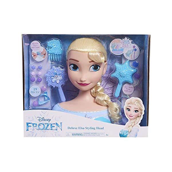 アナと雪の女王2 エルサ ヘアアレンジ 髪型 おもちゃ 人形 ドール フィギュア ディズニー JP Disney Styling Frozen Deluxe Elsa Styling Head