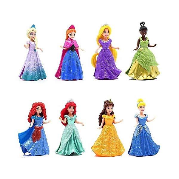 ディズニープリンセス 8体セット アナと雪の女王2 エルサ アナ おもちゃ 人形 ドール フィギュア  ディズニープリンセス 8体セット アナと雪の女王2 エルサ アナ おもちゃ 人形 ドール フィギュア 8-PC Doll Gift Set: 3.75 Disney Princess, featuring Anna and Elsa from Frozen