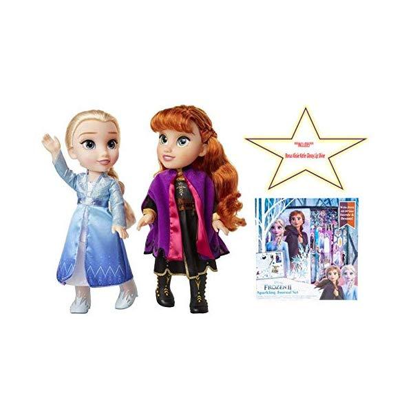 アナと雪の女王2 エルサ アナ 歌う セット おもちゃ 人形 ドール フィギュア ディズニー Disney Frozen Princess Anna Elsa Singing Sisters Dolls Set & Sparkling Journal Bundle