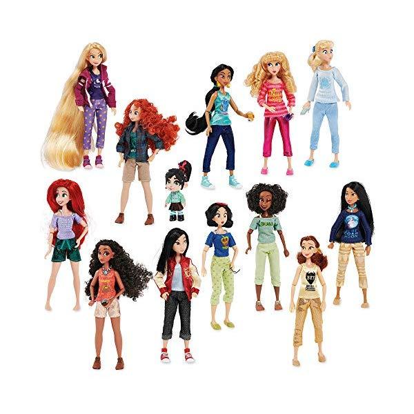 ディズニープリンセス 14体セット シュガーラッシュ2 おもちゃ 人形 ドール フィギュア Disney Ralph Breaks The Internet Vanellope Princesses Mega Doll Set