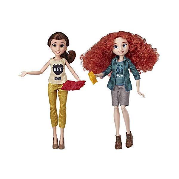 アナと雪の女王2 おもちゃ 人形 ドール フィギュア ディズニー Disney Princess Ralph Breaks The Internet Movie Dolls, Belle and Merida Dolls with Comfy Clothes and Accessories