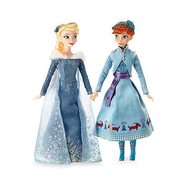 アナと雪の女王2 エルサ アナ オラフ おもちゃ 人形 ドール フィギュア ディズニー  アナと雪の女王2 エルサ アナ オラフ おもちゃ 人形 ドール フィギュア ディズニー Disney Anna and Elsa Classic Doll Set Olaf's Frozen Adventure 11 1/2 Inch