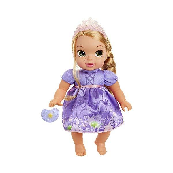 ラプンツェル ベビードール おもちゃ 人形 フィギュア ディズニープリンセス Disney Princess Deluxe Baby Rapunzel Doll with Pacifier Baby Doll Toy