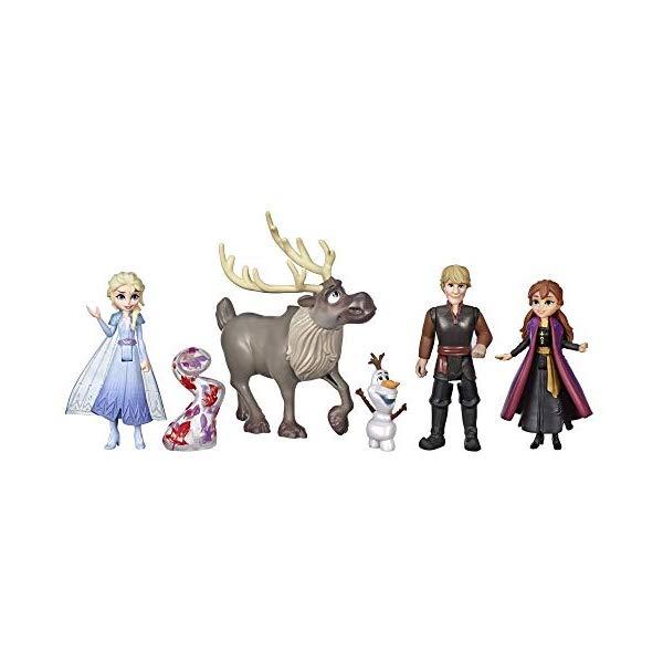 アナと雪の女王2 エルサ アナ クリストフ オラフ スヴェン フィギュア 人形 ドール セット おもちゃ グッズ Disney Frozen Adventure Collection, 5 Small Dolls from Frozen 2, Anna, Elsa, Kristoff, Sven, Olaf, & Gale Accessory