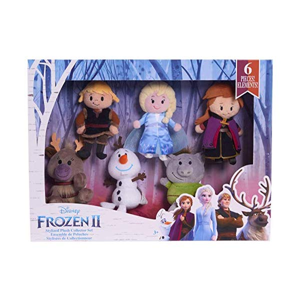 アナと雪の女王2 エルサ アナ クリストフ オラフ スヴェン トロール ぬいぐるみ セット フィギュア 人形 ドールおもちゃ グッズ Disney Frozen 2 Stylized Plush Collector Set