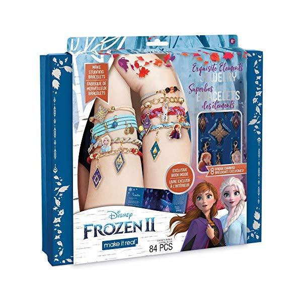アナと雪の女王2 エレメント ジュエリー セット 精霊 自作 ブレスレット アクセサリーキット おもちゃ Make It Real Disney Frozen 2 Elements Jewelry Set. Disney Inspired DIY Charm Bracelet Making Kit for Girls. Design and Create Girls Bracelets