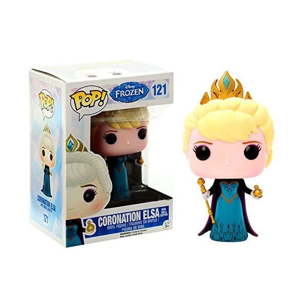 アナと雪の女王 エルサ ファンコ ポップ フィギュア 人形 ドール おもちゃ グッズ Funko Disney Frozen POP! Movies Coronation Elsa Exclusive Vinyl Figure #121 [Hot Topic Exclusive]