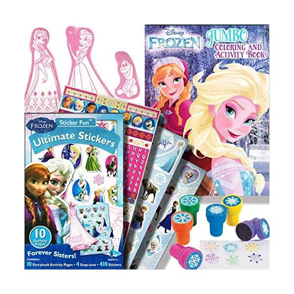 アナと雪の女王 ぬりえ ステッカー スタンプ セット おもちゃ グッズ Disney Frozen Coloring Book Activity Set with Stickers and Snowflake Stamper