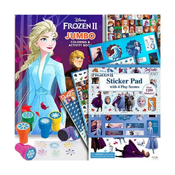 アナと雪の女王2 ぬりえ ステッカー スタンプ セット おもちゃ グッズ Disney Frozen 2 Coloring Book Activity Set with Stickers and Snowflake Stamper